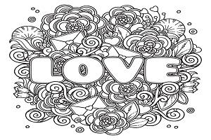 Coloriage Nounours I Love You