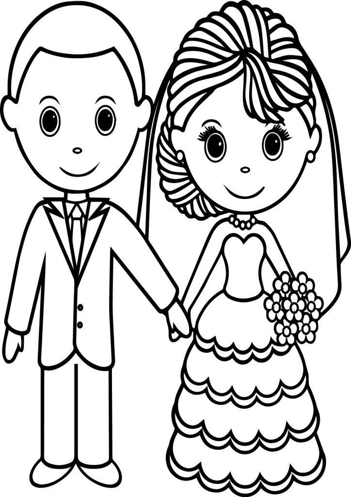 Coloriage Mariage